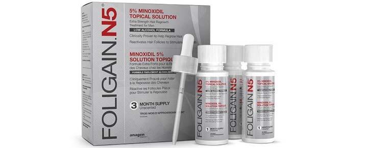 Le traitement Foligain N5 avec peu d'alcool